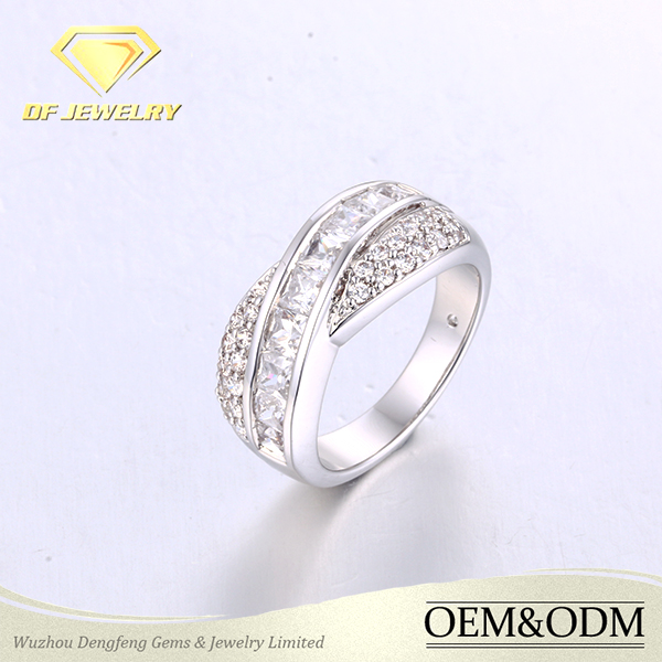 Latest engagement ring designs zircon diamond fashion ring jewellry