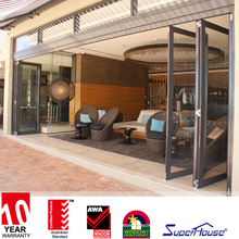 AS/NZ standard double glaze cheap folding patio doors