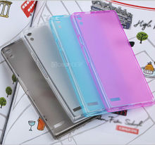 Transparent crystal tpu soft frosted injection case for huawei p6 case mobile phone case new product for 2013