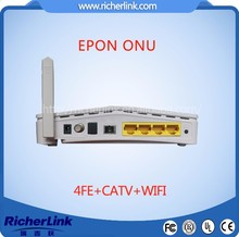 4FE wifi catv EPON MODEM compatible with Huawei, ZTE, Fiberhome, DASAN, Alcate OLT