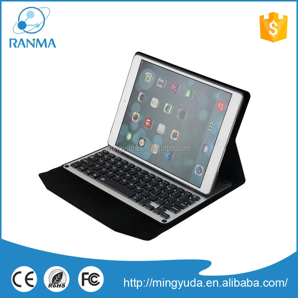 Flip Stand tablet pc bluetooth keyboard aluminum protective case for ipad air