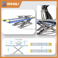 Solid steel X Structure Underground hydraulic car lift