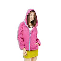 Light weight best outdoor rain jacket womens hooded rain jacket