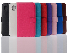 2014 new products wallet stand flip leather case for lg nexus 5 e980