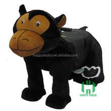 High quality Big Gorilla Electric Animal Ride,coin operated kids electric car,musical walking plush animal scooter