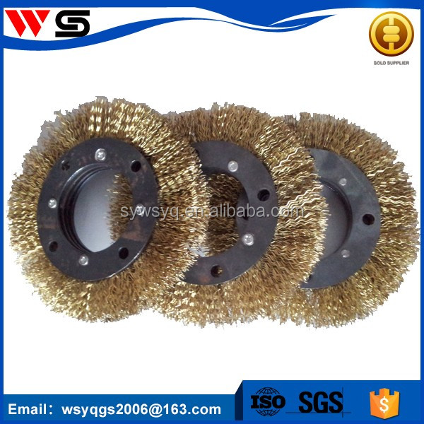 Carbon round brass steel wire brush for pipe cleaning