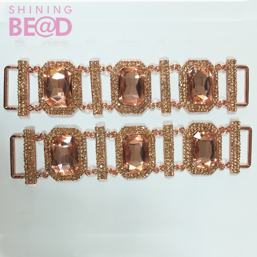 Silver Rhinestone Bikini Connectors/ Buckle Chain, new design bikini connector for swimwear bra clip accessories