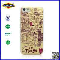 Cell Phone Case For iPhone 5 ,Retro Paris Diamond Pattern Hard Case Cover For iphone 5--Laudtec