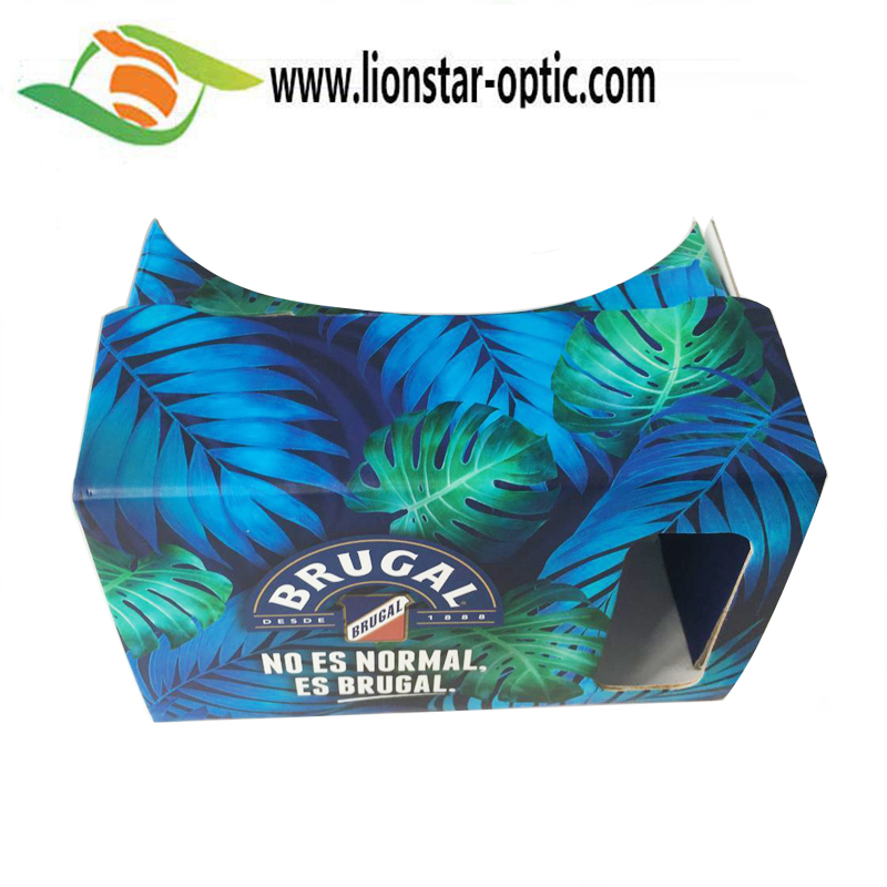 Promotion vr viewer produced with full color private label printing google cardboard vr 3d glasses for smartphone