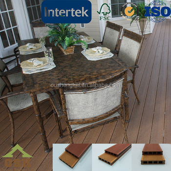 Outdoor WPC decking wood plastic composite durable anti-uv decking