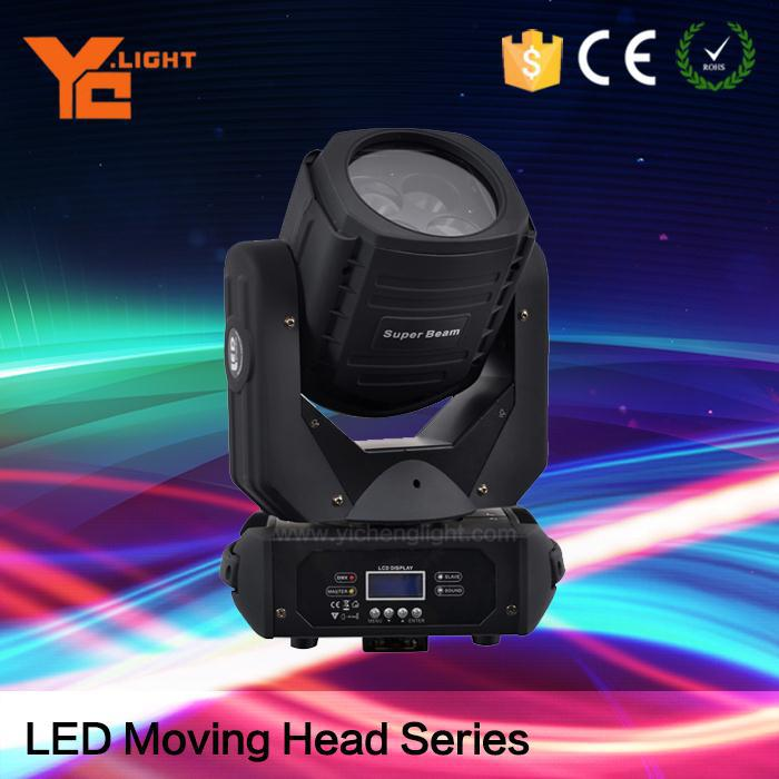 High Brightness 130w Super Beam 4 Led Moving Head 4*25W Mini Beam Light by CE& ROHS Approve