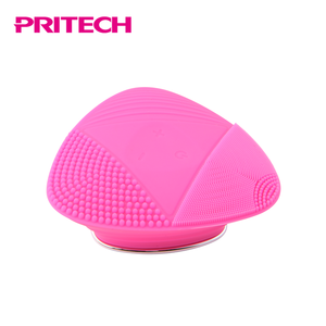 PRITECH High Quality Triangle Design Silicone Electric Facial Cleaning Brush With FDA Certificate Material