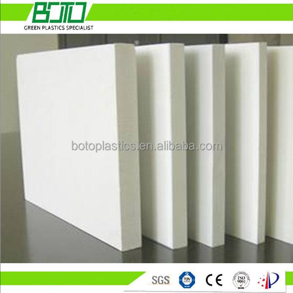 BOTO Extruded pvc foam sheet, celuka/ forex sheet with SGS