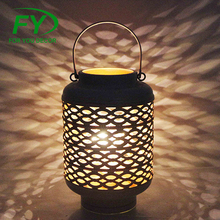 Ml-2645 Customized Design High Quality Two Tone Hollow Out White Galvanized Metal Lantern