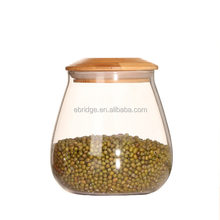 mushroom shaped coffee glass storage tank jar