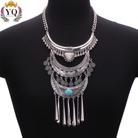 NLX-00592 high quality women large costume jewelry necklace wholesale traditional necklace designs charm vietnam silver jewelry