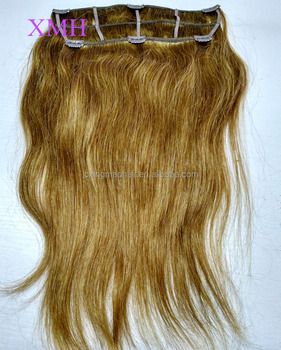 High quality no tangle no shedding triple weft clip hair extensions 100% human hair