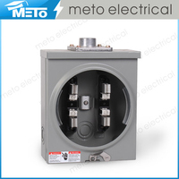 100A single phase 4 pin outdoor square international electrical meter socket with ANSI standard