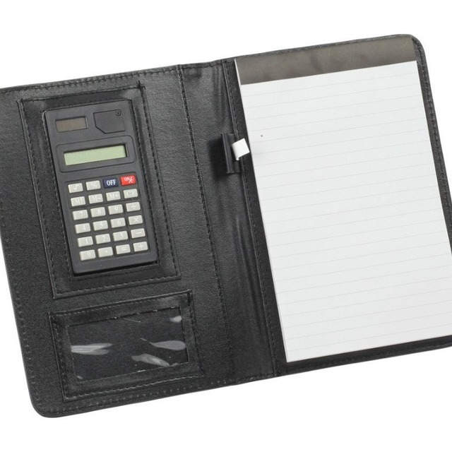 Popular Wholesale High Quality Calculator New Faux Leather Business Folder