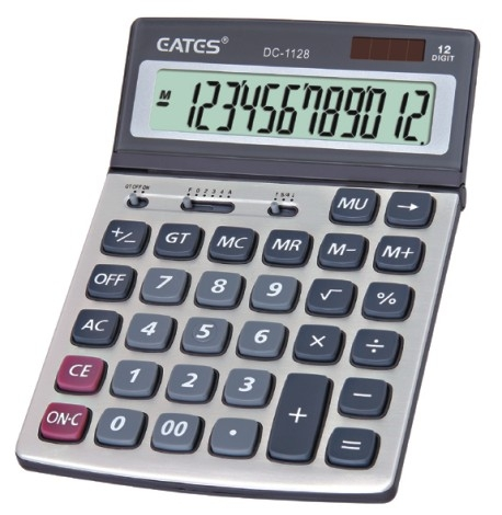 Solar Panel Desktop Office Calculator with Adjustable Angel Display