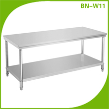 Stainless Steel commercial hot pot table Restaurant Kitchen working tables