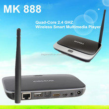 MK 888 Smart android tv box 4.2 Quad-Core RAM 2GB ROM 8GB Wireless Multimedia Player/Satellite receiver with Air Mouse