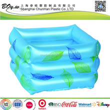 BSCI factory customized design spa leaf blue massaging inflatable pvc foot tub for spa
