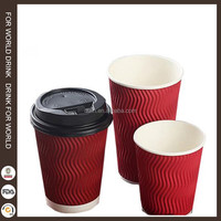 16oz disposable hot drink paper cup for coffee with lid supplier