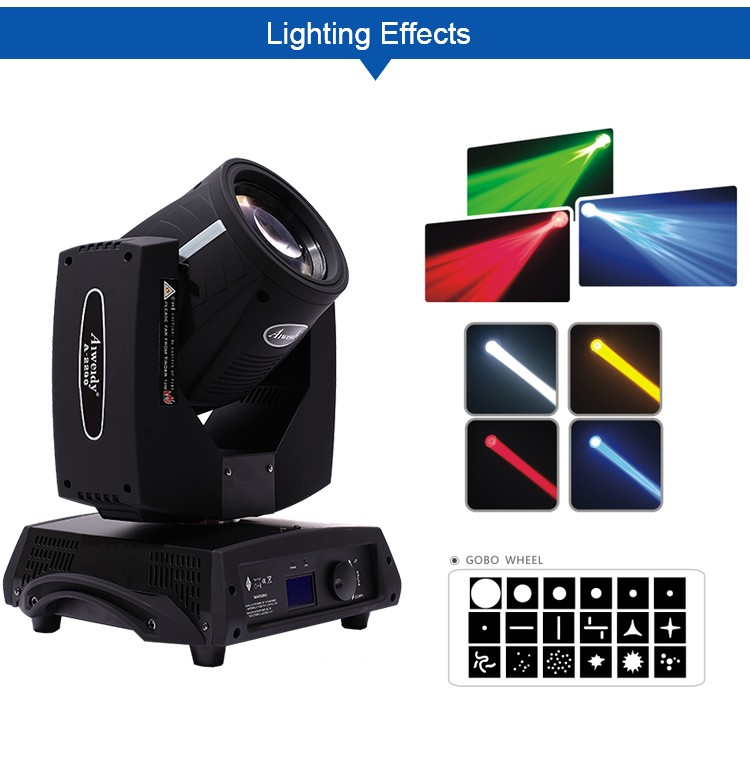 Manufacturer dmx512 spot led gobo stage lighting 350watt sharpy beam moving head light