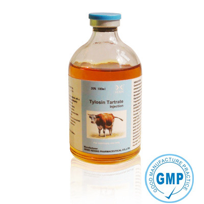 Animal Antibiotic Tylosin Tartrate soluble injection 20% with high quality