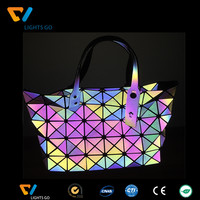 fashionable durable new colorful reflective twinking star leather with tpu material