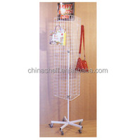 5 tier with wheel revolving wire shelving for Accessories