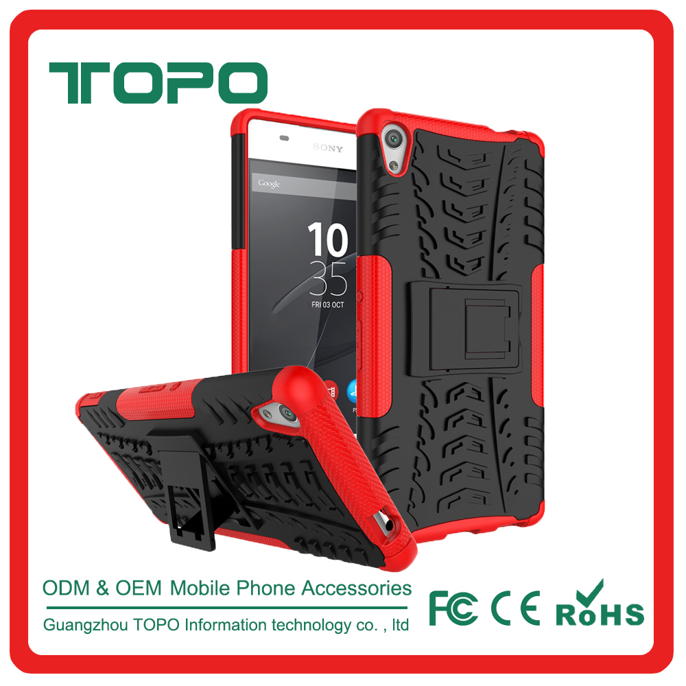 PC hard Soft TPU 2 in 1 Shockproof mobile phone cell case For Sony Z2,3,4,5 Z5 plus premium E4 5 E4G XA M4 Aqua ultra C6