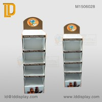 Pos chocolate shelf display stand,cardboard 5-trays floor display,custom paper display for sweet cakes