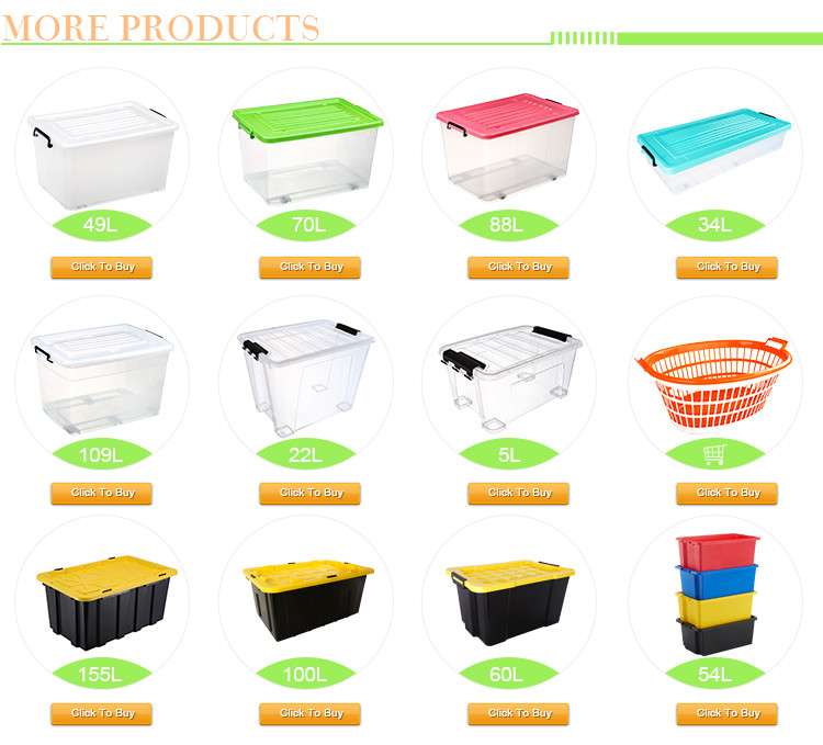 25L-155L Customized Waterproof Heavy Duty Garden Plastic Tool Box