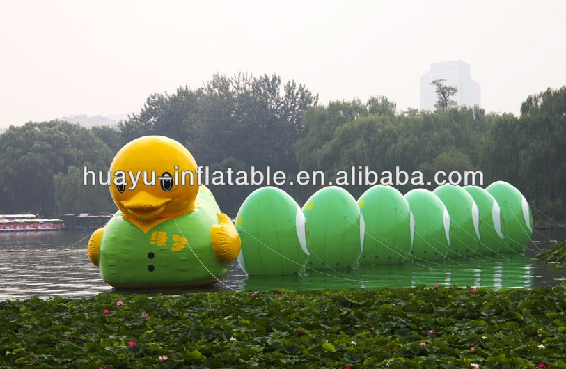 Inflatable Duck Costume Green Clothes Inflatable Swim Duck Float Yellow Duck With Green Balls Balloons Combo