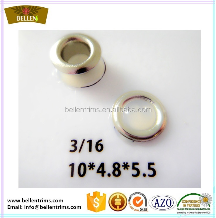 Nickle free stainless steel grommets