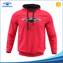 More than 10 years' experience Cheap red color mens gym wholesale sports blank pullover hoodies
