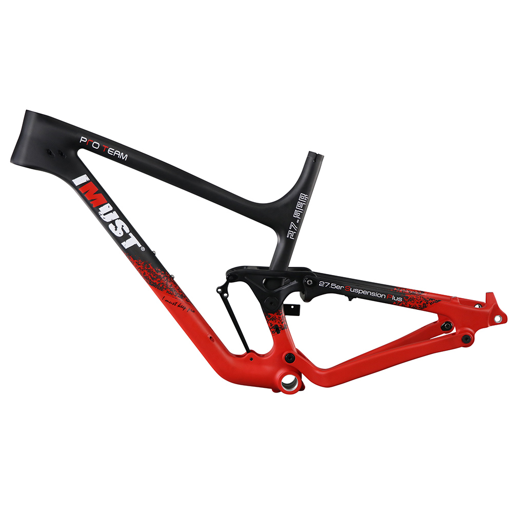 27.5 PLUS carbon full suspension mountain bike frame for 3.0 tires