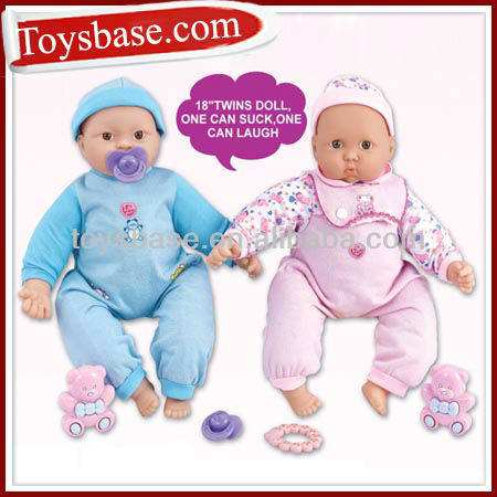 18 inch twins baby ball jointed doll
