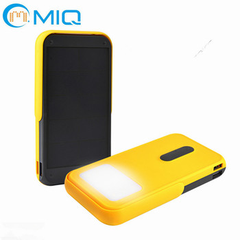 2018 hot sale solar energy power bank solar power bank 10000mah for outdoor charging