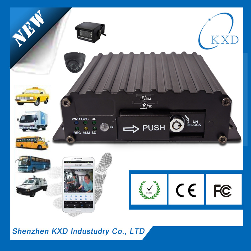 H.264 Full D1 LED display monitoring public vehicle mobile nvr kit with 3g wifi connection