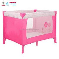 Pink Foldable Simple Baby Playpen & Outdoor Baby Travel Cot