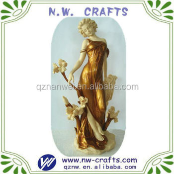 Resin beauty woman statues home decoration