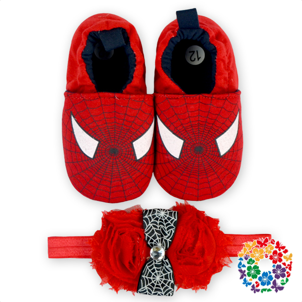 2016 Special Baby Girl Shoes Cartoon Character Pattern Shoes With Matched Headband Cotton Warm Shoes Whoelsale