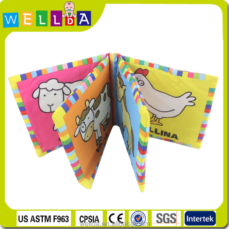 Popular in America educational soft fabric cheap my hot book for baby