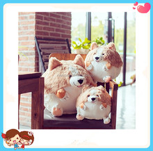 Wholesale Custom Cute Corgi Dog Toys Stuffed Plush Animal Corgi Shaped Pillow China Factory