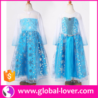 wholesale girl frock design pretty costume frozen elsa princess dress