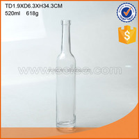 500ml glass wine bottle glass wine decanter with long neck.