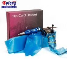 Solong Tattoo Supply 125pcs Disposable Sleeve Disposable Tattoo Clip Cord Bag